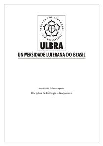 Questões G1 Bioquímica Ulbra