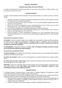 RESUMO DIR TRIBUTÁRIO II