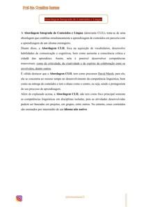 Abordagem Integrada de Conteúdos e Língua