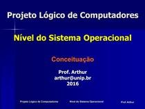Projeto Logico de Computadores   04   Nivel do Sistema Operacional