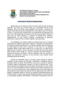 SITUAÇÃO DE SAÚDE DE MORADA NOVA