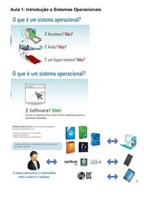 Aula 1 a 10   Sistemas Operacionais