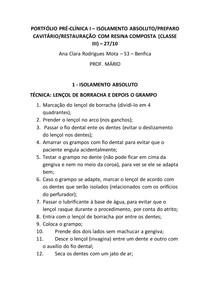 PORTFÓLIO - Classe III