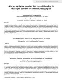A inclusão escolar nas autobiografias de autistas