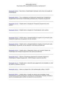 resoluções COFFITO
