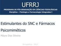 II - Estimulantes do SNC e Fármacos Psicomiméticos