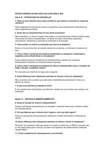 ESTUDO DIRIGIDO DE BIOLOGIA CELULAR I PARA A AP2