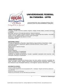 Apostila Assistente ADM UFPB