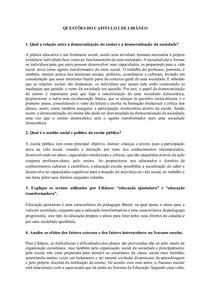 Questões do capitulo 2 de Libâneo