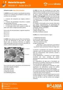 Módulo 5 - aula 18 a 23 - Morfologia de Flor, Fruto e Semente