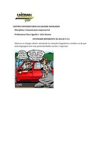 ATIVIDADES AULAS 05,06,07 E 08