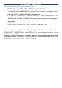 AULA 10 TECNOLOGIA E INOVAÇÃO NA SAÚDE