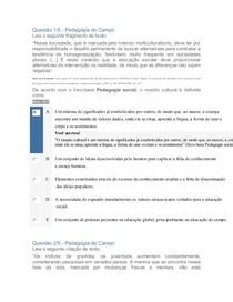 APOL PEDAGOGIA DO CAMPO