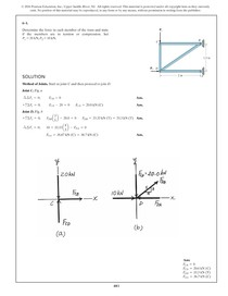 Solução de exercícios - Capítulo 6 Análise estrutural - Estática 8ª Ed