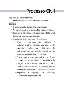 COMUNICAÇOES PROCESSUAIS- CITAÇÃO