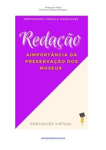 Redação - Preservação dos museus