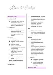 Resumo de Cariologia
