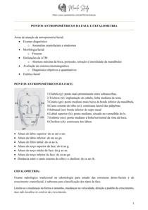 [Anatomia] Pontos antropométricos da face e cefalometria