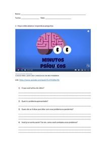 Atividade de vídeo ansiedade na pandemia