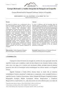 Georges Bertrand e a Análise Integrada da Paisagem em Geografia