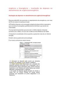 avaliação da dispneia