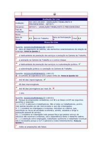 AV1 legislação trabalhista 1