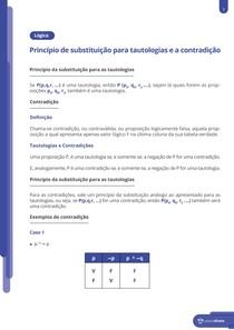 Princípio de substituição para tautologias e a contradição - Resumo