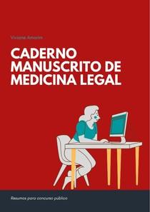 Caderno manuscrito Medicina Legal