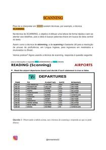 Técnica de leitura em inglês: Scanning