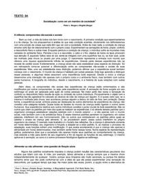 ANTROP. (2014)- texto 04- Socializacao- como... (Peter e Brigitte Berger)-