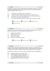 Avaliação parcial   Língua Portuguesa 2