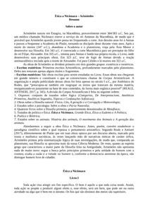 ETICA A NICOMACO (RESUMO)