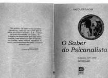 LACAN, J. O saber do psicanalista   O seminário   Livro 19