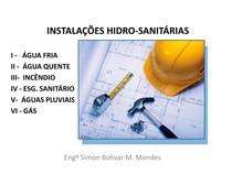 INSTALAÇÕES HIDRÁULICAS E SANITÁRIAS - Instalações Prediais de Água fria