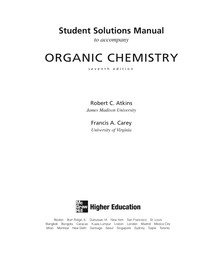 Organic Chemistry 7th ed  - solutions Manual (Atckins e