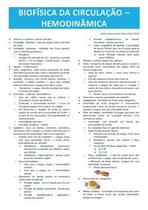 Biofísica da circulação - hemodinâmica