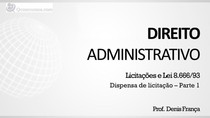 Dispensa de Licitação - Apresentação (parte 1)
