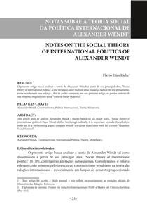 Alexander Wendt- resumo
