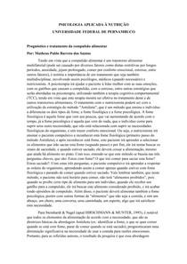 COMPULSÃO ALIMENTAR - PROGNÓSTICO E TRATAMENTO