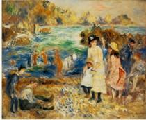 Pierre Auguste Renoir  - Beach-Scene-Guernsey