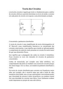 Teoria dos Circuitos