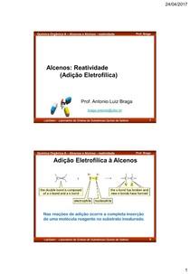 alcenos - reatividade