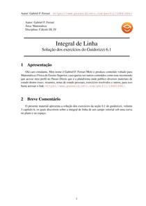 Exercícios Resolvidos Guidorizzi volume 3 capítulo 6.1