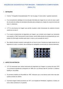 Avaliação Diagnóstica - Tomografia Computadorizada