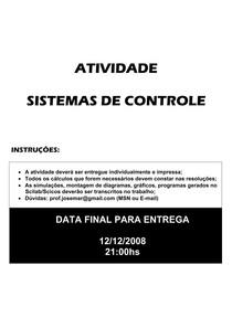 Atividades Sistemas de Controle