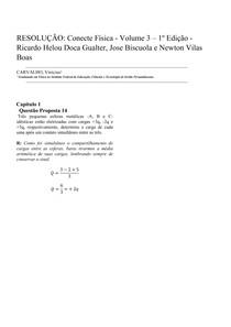ESOLUÇÂO: Conecte Física 3 - Capitulo 1 - Questão Proposta 14