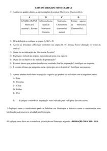ESTUDO DIRIGIDO FITOTERAPIA I