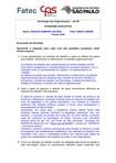 FATEC   Gestao Empresarial   UA 06   Avaliativa    Atividade   Sociologia das Organizações   Renata S V