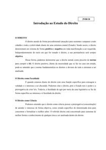 Introdução ao Estudo do Direito   Aula ditada (1)