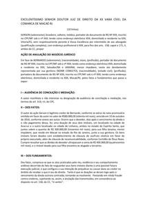 PETIÇÃO INICIAL - PRÁTICA SIMULADA I (CÍVEL) - CASO CONCRETO SEMANA 03